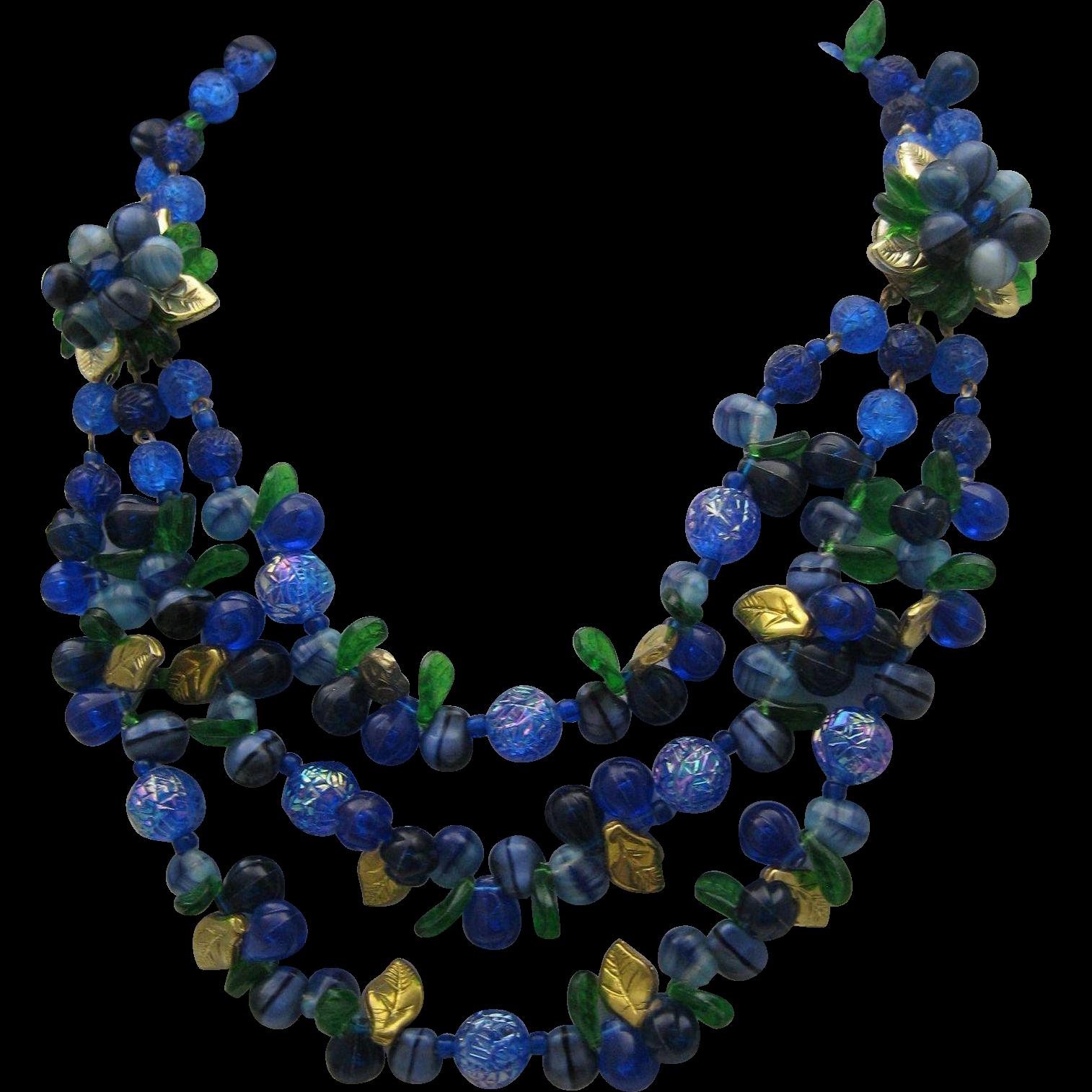 West Germany Jewel Tone Necklace 1950