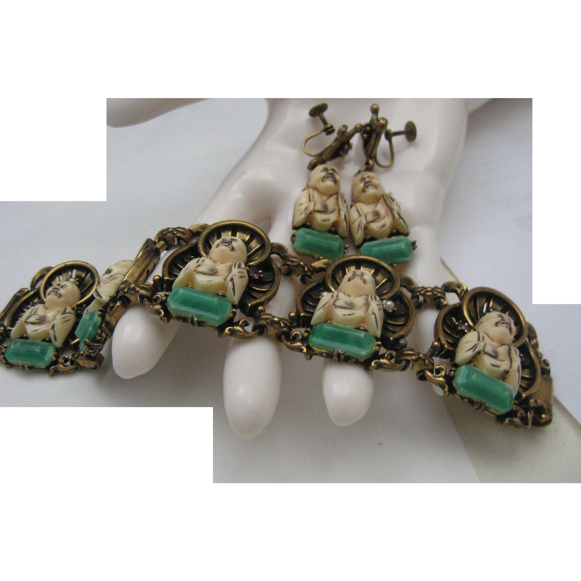 Florenza Buddha Bracelet Set Celluloid