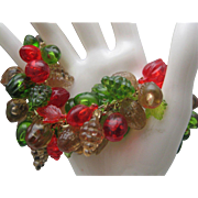 Lucite Fruit Salad Bracelet