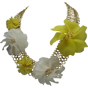 Acetate Floral Necklace 1970