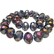 Amethyst Cut Crystal Beads c1960