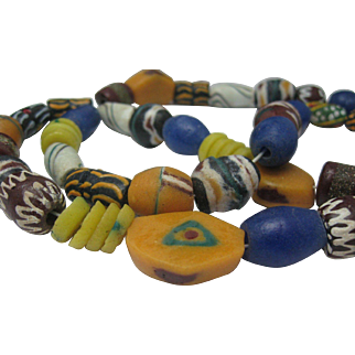 Authentic African Trade Bead Necklace