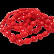 Geranium Red Necklace Earrings set