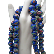 Chinese Porcelain Necklace 56 inches