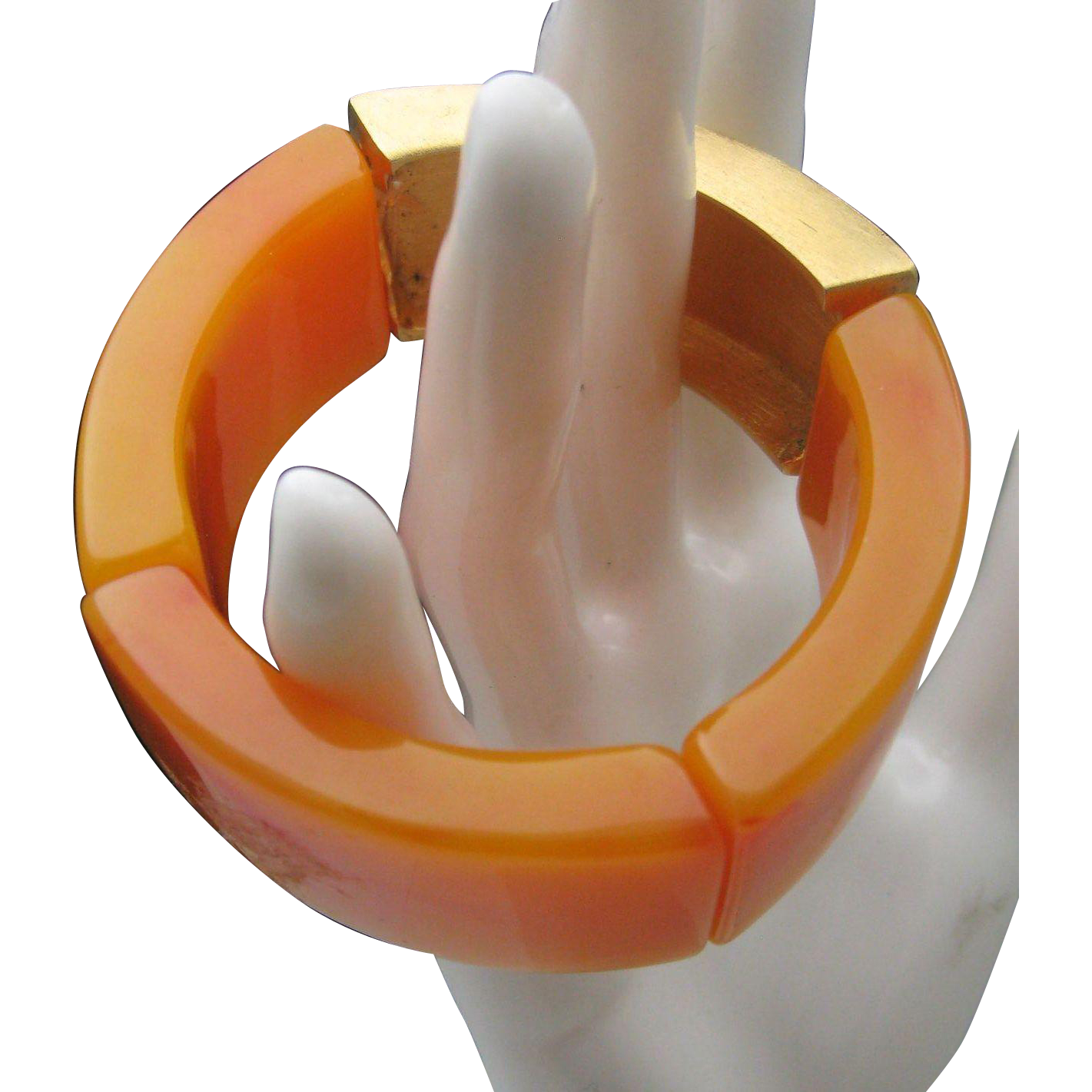 Kenneth Lane Butterscotch Lucite Bracelet