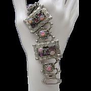 Victorian Revival Fire Opal Bracelet