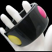 Emanuel Ungaro Style Polka Dot Bracelet 1960