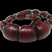 Cherry Resin Tribal Necklace c1970