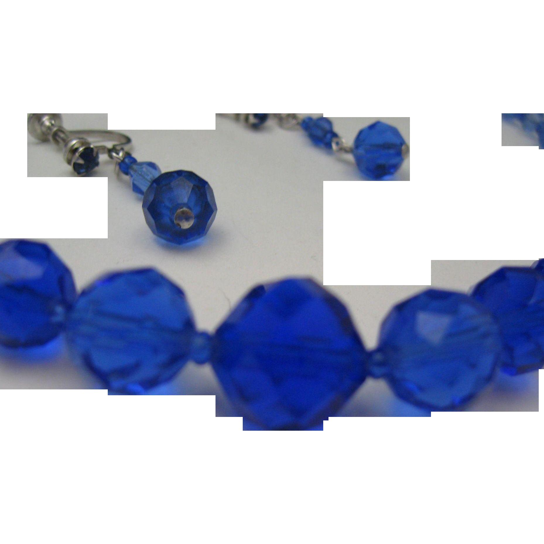 Periwinkle Swarovski Crystal Necklace Earrings