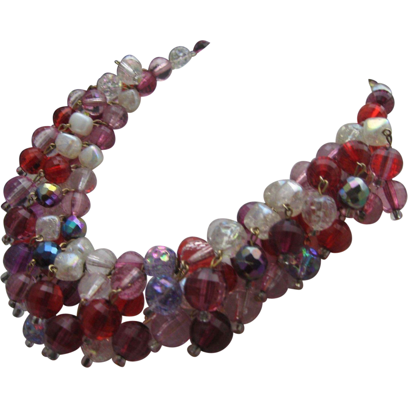 Very Berry Crystal Glass necklace
