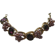 Amethyst Necklace Golden Links