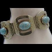 Robins Egg Turquoise Alpaca Bracelet