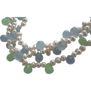 Pearl and Crystal Necklace 1980
