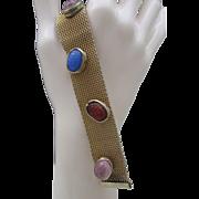 Golden Mesh Scarab Bracelet