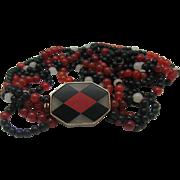 Art Deco Carnelian Onyx Necklace