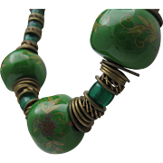Hippie Beads Necklace 1960 unisex