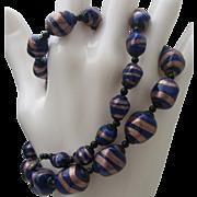 Venetian Cobalt Foiled Necklace