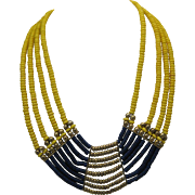 Stone Breast Plate Necklace c1970