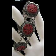 Genuine Cinnabar Chinese Export Bracelet