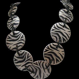 Zebra Chain Necklace c1980