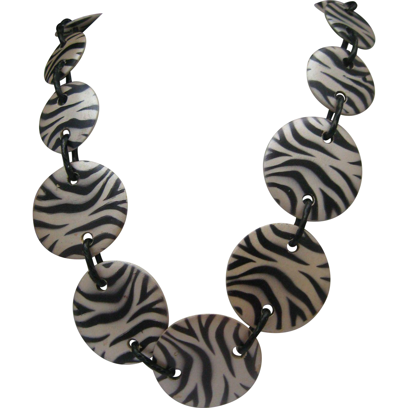Zebra Chain Necklace c1980