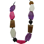Sobral Style Lucite Necklace