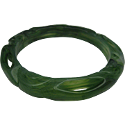 Marbled Green Celluloid Bracelet
