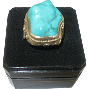 Chinese Export Turquoise Ring