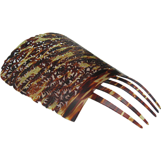 10 inch Spanish Mantilla faux Tortoiseshell
