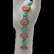 Moonglow Harlequin Opal Bracelet