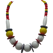 Deco Mid Century Plastic Necklace