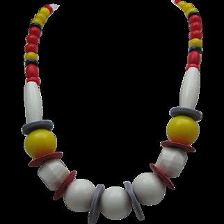 Deco Mid Century Plastic Necklace