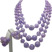 West Germany Purple Three Strand Set