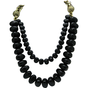 Golden Chain Black Bead necklace Italy