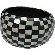 Checker board MOP Ebony Bracelet