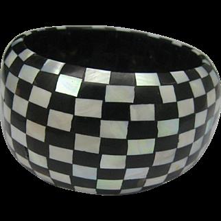 Checker board MOP Ebony Bracelet
