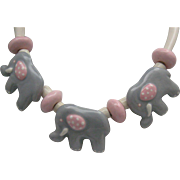 Shoestrings Ceramic Necklace