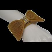 Mesh Bow Tie Gold-toned Bracelet