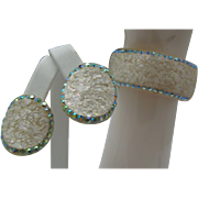 Ivory Celluloid Bracelet Earrings