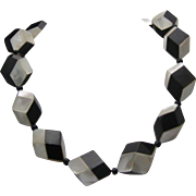 Op Art necklace c1960