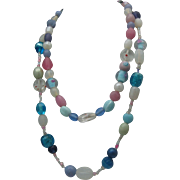 Art Glass Two Strand Necklace