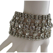 Old Hollywood Style Rhinestone Cocktail Bracelet