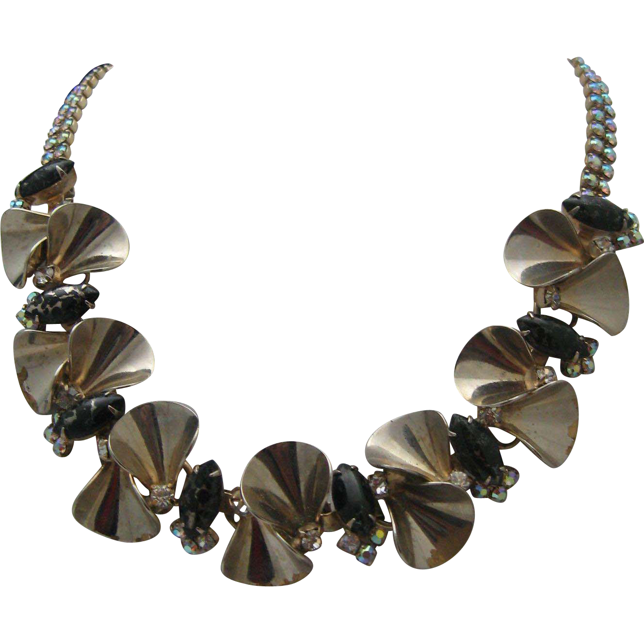 Hobe Rhinestone Necklace c1960