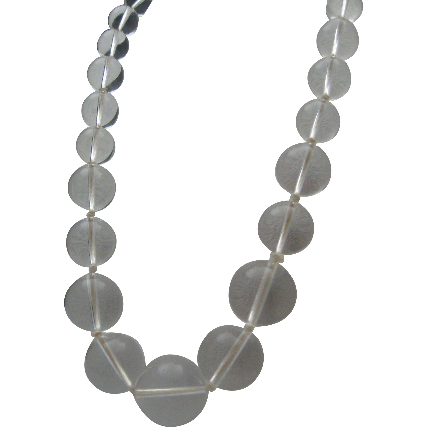32 inch Lucite Orb Necklace 1970