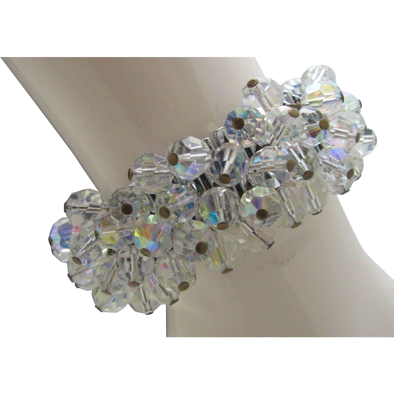 Aurora Borealis Crystal Cha Cha Bracelet