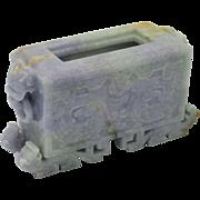 FINE Vintage Natural Lavender & Apple Green Jadeite Jade Chinese Censer
