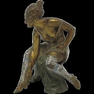 c1920 EROTIC Cold Painted Vienna Bronze w/ Hidden Nude!