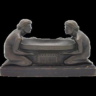 GURSCHNER Austrian Vienna Bronze Art Nouveau Centerpiece EXQUISITE