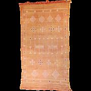 "Moroccan Embroidered Kelim Tribal Rug 6' 2"" x 3' 4"""