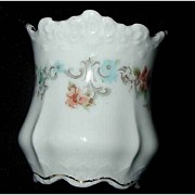 Vintage Hermann OHME Porcelain Floral Toothpick Holder